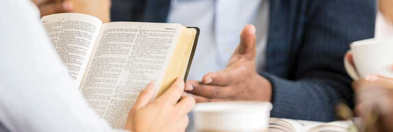 Christians studying Scripture together