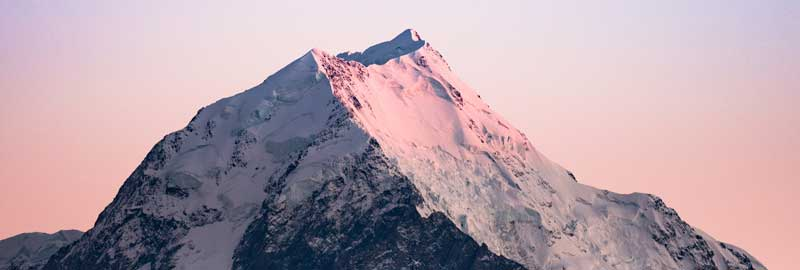 Snow-capped mountain top